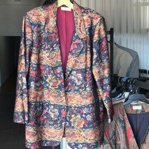 Absolutely stunning silk Casual Corner blazer 1X